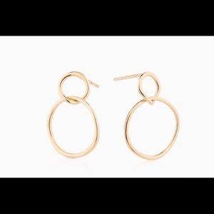 Mejuri gold vermeil loop earrings